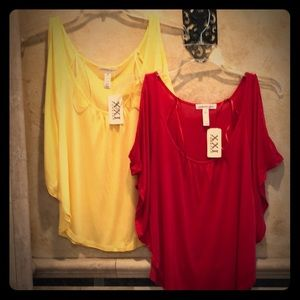 NWT Two Forever 21 Ambiance Open Shoulder Shirts